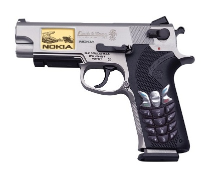 Nokia cell phone gun