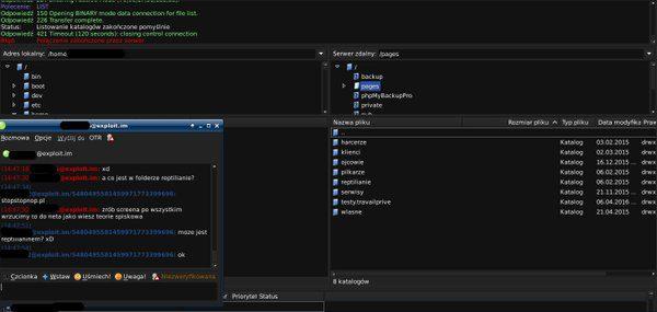 Jeden ze screenshotów zawierający podgląd katalogów na dysku komputera rzekomo należącego do Kijowskiego