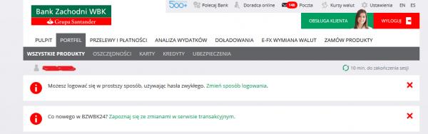 BZWBK - komunikat dla klientów korzystających z hasła maskowanego