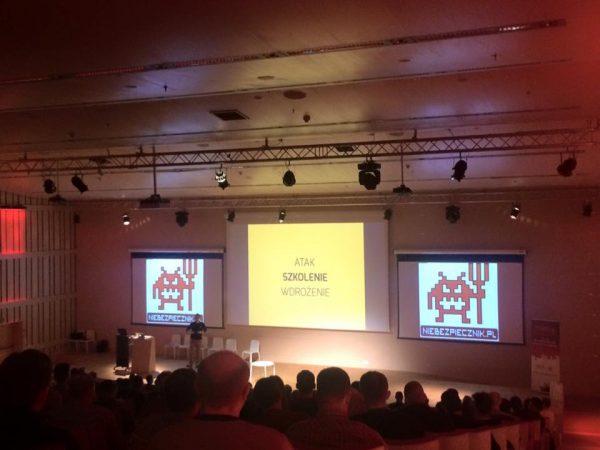 Wykład podczas konferencji Secure World organizowanej przez nas wspólnie z VS DATA