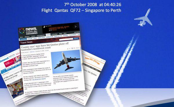 Cząstki wysokiej energii mogą przyczynić siędo awarii systemów w samolotach, slajd z prezentacji Christophera Frosta