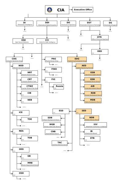 Struktura zespołów zajmujących się operacjami IT w CIA