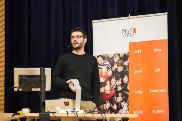 Podczas SoftwareTalks w Rzeszowie fot. Dominik Matula