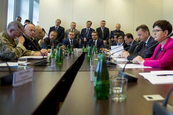 Spotkanie Rządowego Zespołu Zarządzania Bezpieczeństwem jest bezpieczne - laptopów brak ;)