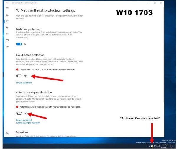 Opcja zezwalająca antywirusowi (Windowsowemu) na wgrywanie plików na serwery producenta