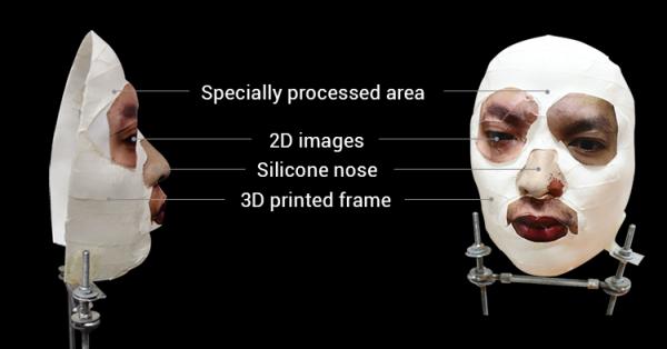 Schemat maski, która oszukała Face ID