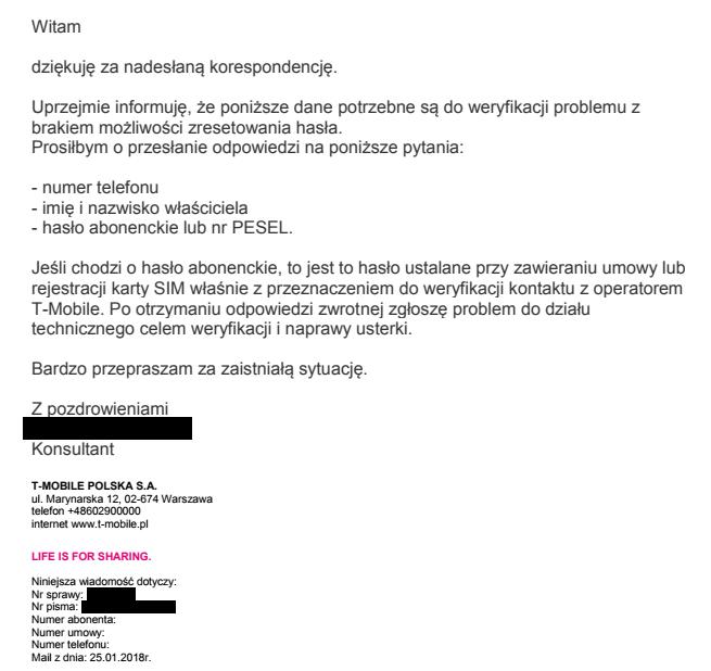 """3f1a436412b563 Wyślij nam e-maila z hasłem"""" – metoda autoryzacji w telekomach (i ..."""