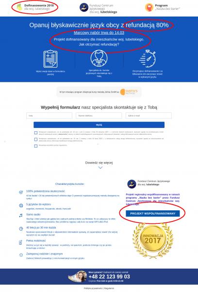 Zrzut strony http://dotacja-lubelskie.pl/