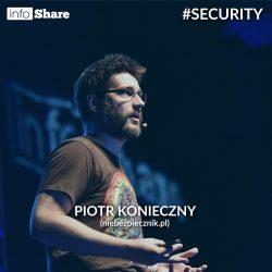 Fotka z zeszłorocznego wykładu Piotrka na Infoshare