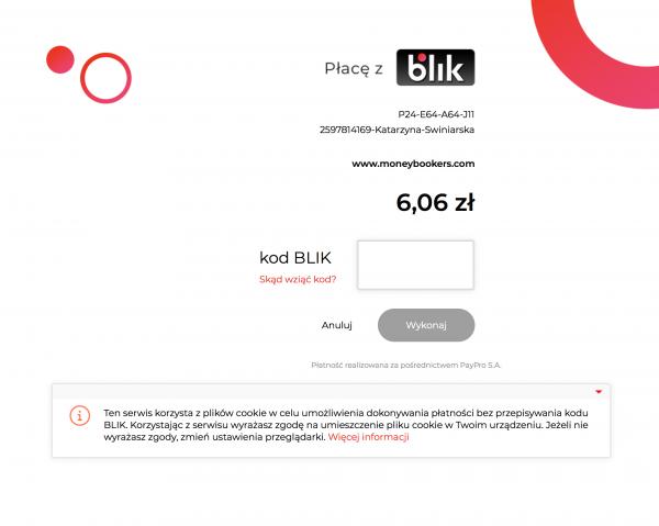 2656a445a0bbfe Po wpisaniu kodu, Pani Weronika otrzymuje komunikat z BLIK na swoim  telefonie, mniej więcej o takiej treści: