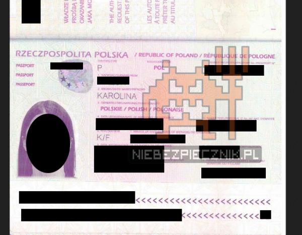 skan paszportu