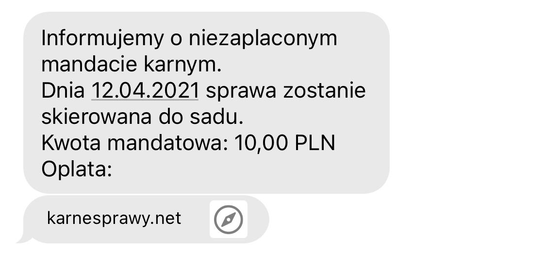 """⚠️ Uwaga na nowy atak na """"mandat karny"""" -- Niebezpiecznik.pl --"""